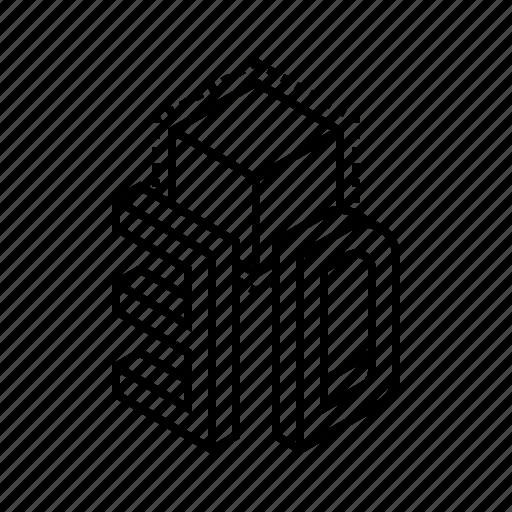3d, cube, design, dimension, model icon