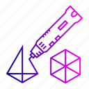 3d, creation, laser, model, pen, tool icon