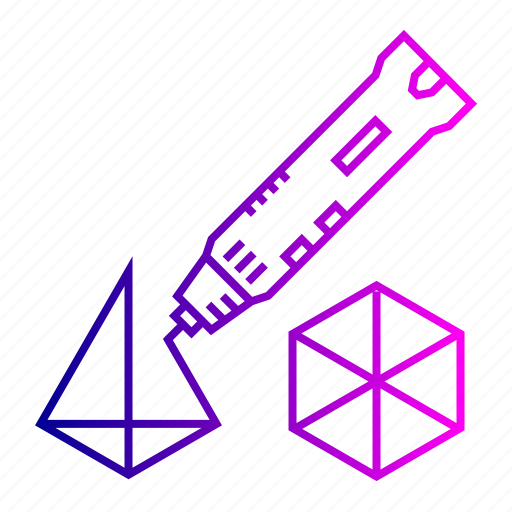 3d, creation, laser, model, pen, tool icon