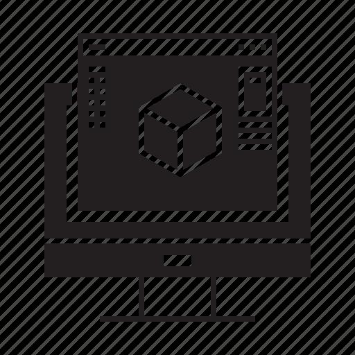 3d, design, generation, model, online, tool, website icon