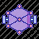 core, forming, processor icon