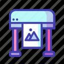computer, digital, marketing, printing icon
