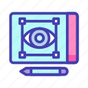 digital, sketching, technology icon