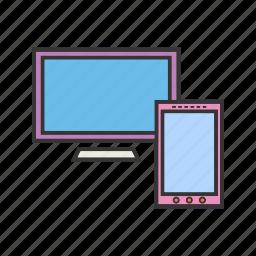 desktop, display, screen icon