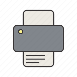printer, printing icon
