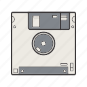 disk, diskette, floppy, save, storage icon