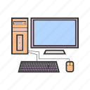 computer, monitor, pc, screen icon