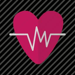 heart, love, medical, valentine icon