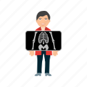 bones, chest x ray, healthcare, standing, x ray icon