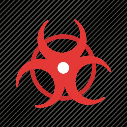 biohazard, biological, medical sign icon