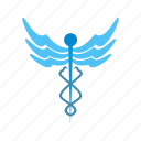 caduceus, healthcare, medical, medical sign icon