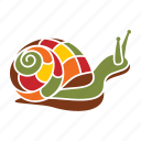 autumn, nature, season, shell, snail icon