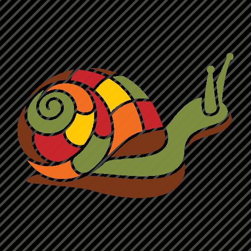 autumn, nature, season, shell, snail icon