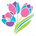 bouquet, flowers, nature, pastel, season, spring, tulips icon