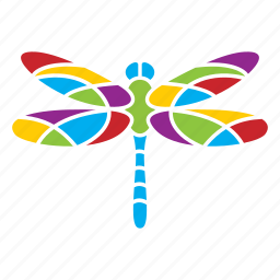 dragonfly, insect, nature, season, summer icon