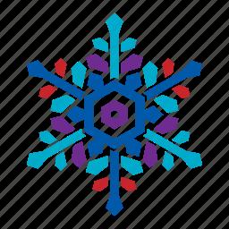 cold, nature, season, snow, snowflake, weather, winter icon