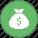 bag, money, currency, dollar