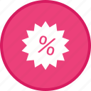 discount, offer, percent, percentage, tag icon