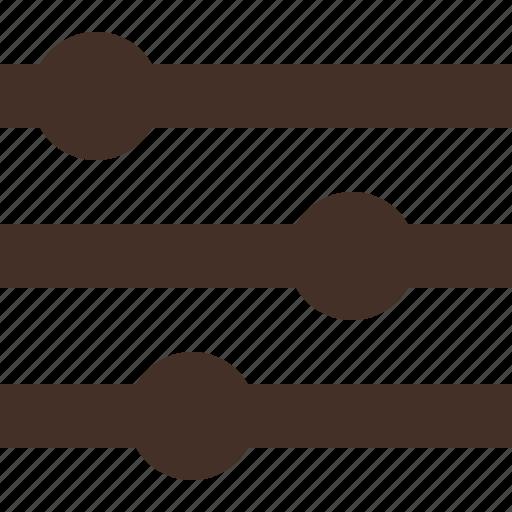 cusomize, range, refine, scale icon