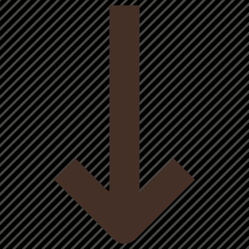 arrow, below, down, low icon