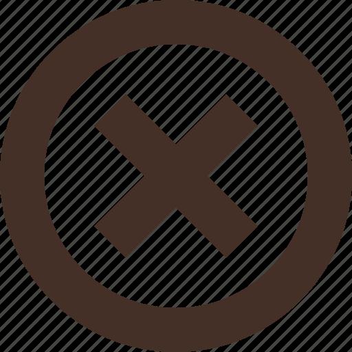 cross, decline, false, reject icon