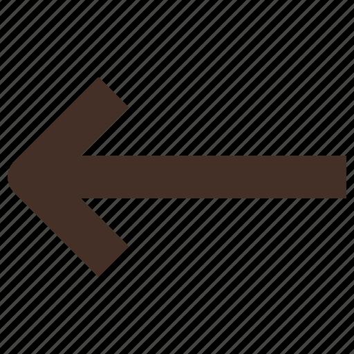 arrow, backward, left, sign icon