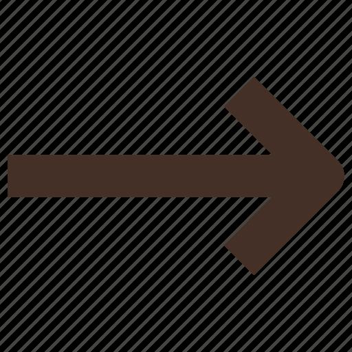 arrow, foward, right, sign icon