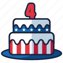 4th of july, birthday, cake, independence day, united states, usa, year