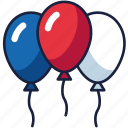 4th of july, balloons, independence day, patriot, usa icon