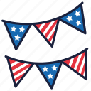4th of july, banner, independence day, united states, usa icon