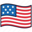 4th of july, flag, independence day, united states, usa icon