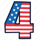 4th of july, four, independence day, united states, usa