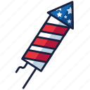 4th of july, independence day, rocket, united states, usa icon