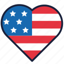 4th of july, heart, independence day, united states, usa