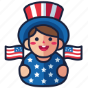 4th of july, independence day, kid, patriot, united states, usa