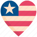4th of july, heart, holiday, independence day, love, memorial, usa icon