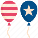 4th of july, balloon, celebration, holiday, independence day, memorial, usa icon