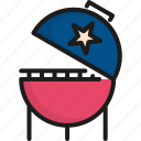 4th of july, barbecue, food, holiday, independence day, memorial, usa icon