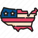4th of july, holiday, independence day, land, map, memorial, usa icon
