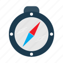 cartography, compass, direction, location icon