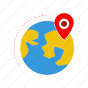 earth, globe, gps, location, map, position icon