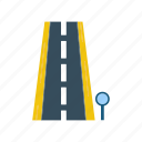 highway, motorway, road, travel icon