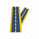highway, linked, road, route, travel, way icon
