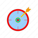 aim, archery, focus, goal, location, target, vision icon