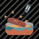 cooking, season, pan, food, cook