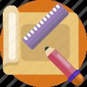 design, pencil, ruler, edit