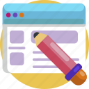 design, edit, pencil, web, web design, website