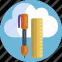 design, pencil, ruler, edit, pen