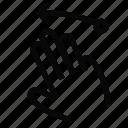 gesture, interface, left, swipe icon
