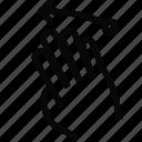 fingers, gesture, left, swipe icon